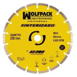 DISCO DIAMANTE WOLFPACK SEGMENTADO SINTERIZADO 230 MM