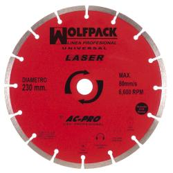 DISCO DIAMANTE WOLFPACK SEGMENTADO LASER 230 MM