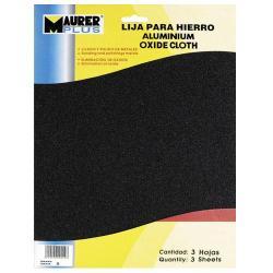 LIJA HIERRO MAURER 2 GRUESO  (PACK 10 PLIEGOS)