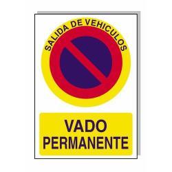 CARTEL VADO PERMANENTE 30X21 CM.