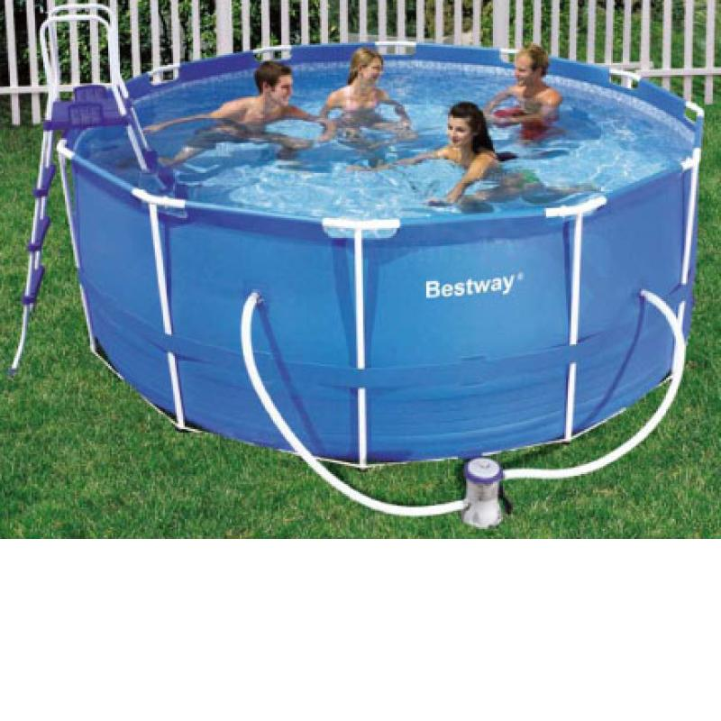 Piscina portatil redonda 10250 lts bestway for Piscina portatil grande