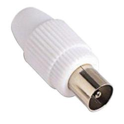 CONECTOR TV MACHO RECTO 9,5 MM