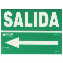CARTEL SALIDA A IZQUIERDA 21X30 CM.