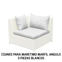 COJINES PARA MARETIMO MARFIL ÁNGULO 3 PIEZAS BLANCOS