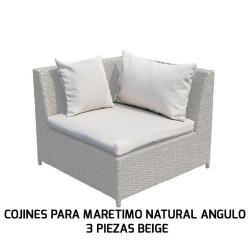 COJINES PARA MARETIMO NATURAL ÁNGULO 3 PIEZAS BEIGE