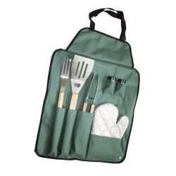 SET BARBACOA PAPILLON   6 PIEZAS CON DELANTAL