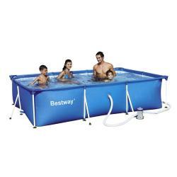 piscina portatil para jardin 3300 lts bestway On piscina portatil rectangular