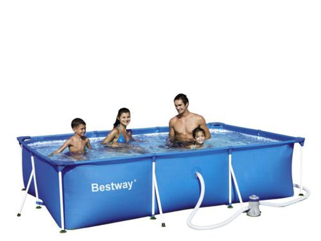 piscina portatil para jardin 3300 lts bestway On piscina portatil rectangular