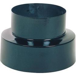 Reducción estufa vitrificado color negro de 120 a 100mm
