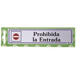 ROTULO PROHIBIDA LA ENTRADA