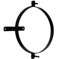Abrazadera para tubo estufa vitrificada con soporte 120mm  (2 piezas)