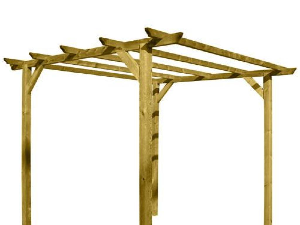 Pergola de madera 4 postes papillon - Postes de madera para pergolas ...