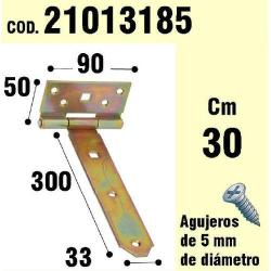 SOPORTE PARA MADERA BISAGRA BICROMATADO 300 MM