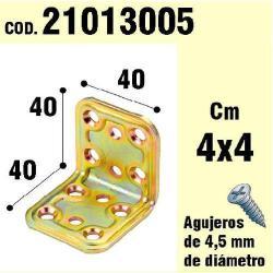 SOPORTE PARA MADERA ÁNGULO 40X 40X 40