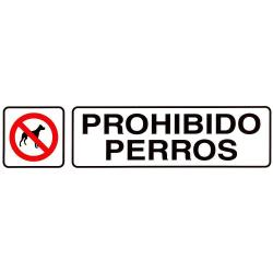 ROTULO ADHESIVO 250X63MM PROHIBIDO PERROS