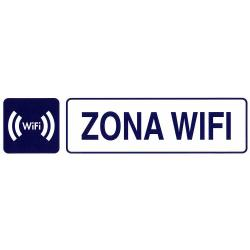 ROTULO ADHESIVO 250X63MM ZONA WIFI