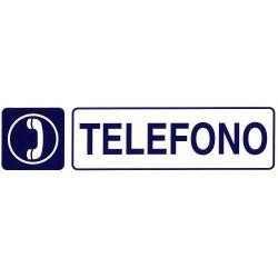 ROTULO ADHESIVO 250X63MM TELEFONO