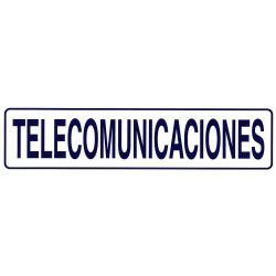 ROTULO ADHESIVO 250X63MM TELECOMUNICACIONES