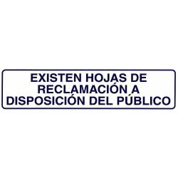 ROTULO ADHESIVO 250X63MM EXISTEN HOJAS RECLAMACIONES