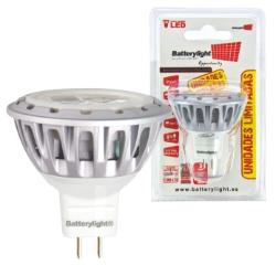 BATTERYLIGHT LED SPOT LIGHT 12V 3W 150LM MR16 CW