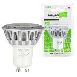 BATTERYLIGHT LED SPOT LIGHT 5W 280LM GU10 CW