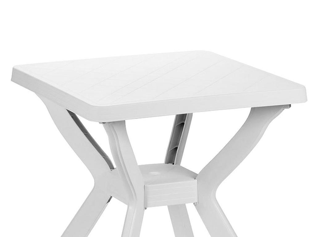 Mesa cuadrada resina blanca for Mesa cuadrada blanca