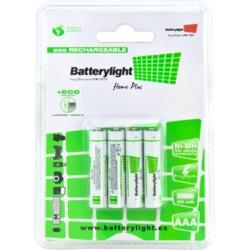 BATTERYLIGHT BATERIA ECORECARGABLE AAA (PACK 4)
