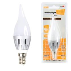 BATTERYLIGHT LED C37 VELA 4W 260LM E14 CW