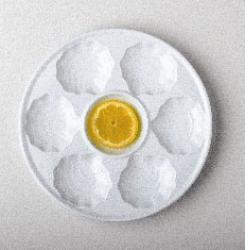 Plato ostras porcelana blanca 887 cim for Platos porcelana blanca