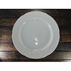 Plato llano AUGUSTA 26,5 cms blanco CIM