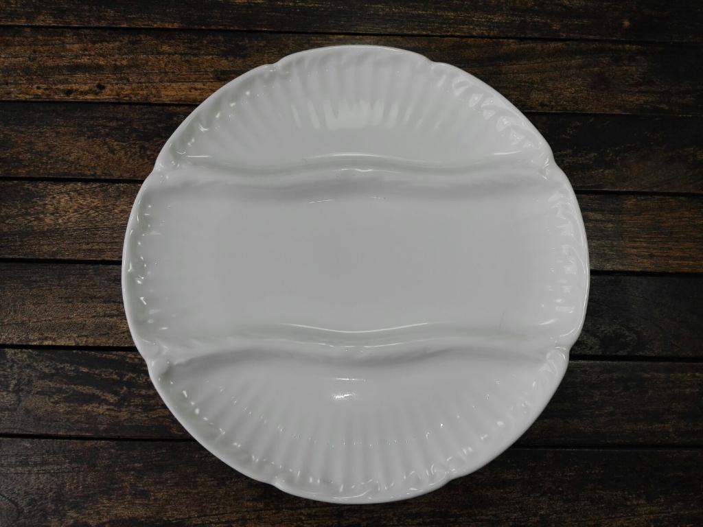 Plato esparragos porcelana blanca 5188 cim for Platos porcelana blanca