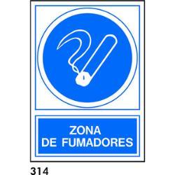 SEÑAL CARTEL 210X297 ZONA FUMADORES