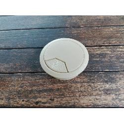 TAPA PASACABLE CON MUELLE 60MM BEIGE