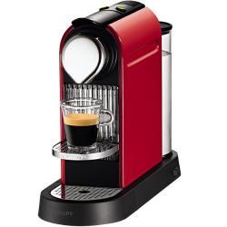 Cafetera Nespresso CitiZ Roja Flow Stop.KRUPS