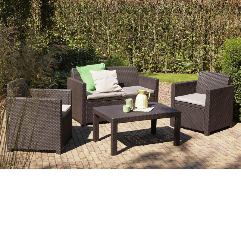 conjunto de jardin colorado allibert curver. Black Bedroom Furniture Sets. Home Design Ideas