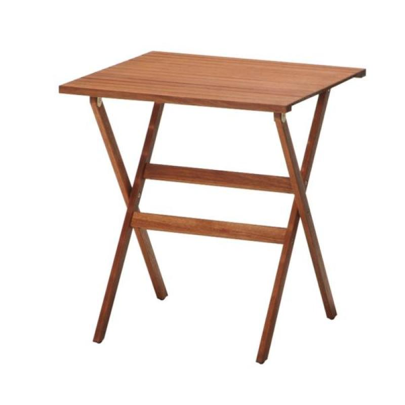 Mesa plegable balconera de madera 66x66 cms habitex for Mesa plegable de madera