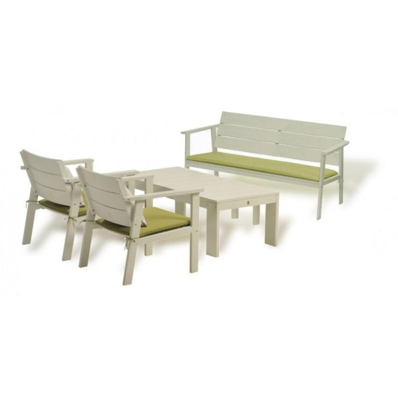 Conjunto muebles de madera para jardin nelson for Conjunto jardin madera