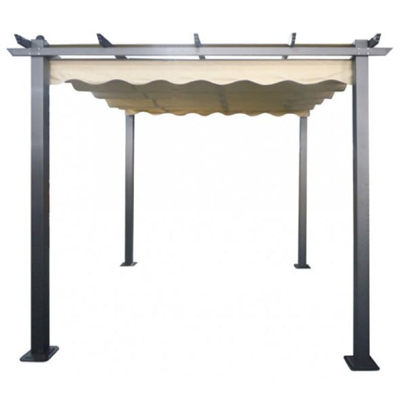 pergola de jardin en aluminio 3x3 mts habitex. Black Bedroom Furniture Sets. Home Design Ideas