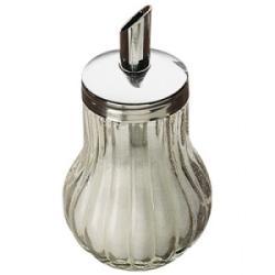 Azucarero Dosificador Cristal con Tapa Cromada