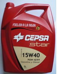 Lubricante Star 15W-40 (5 L) de Cepsa