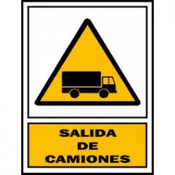 Señal salide camiones