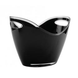 Cubo enfriabotellas negro acrilico LACOR
