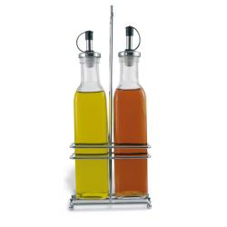 Set Aceitera  - Vinagrera Cristal 2 unidades.SUPREMINOX