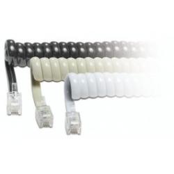 SIMON Cable telefono espiral 2,10 mts blanco