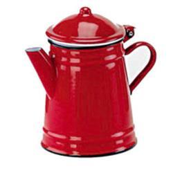 Cafetera esmalte conica.Serie Roja.IBILI