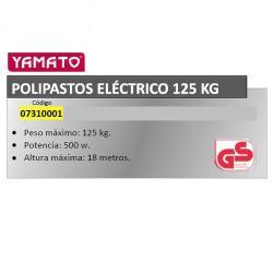 POLIPASTOS YAMATO ELECTRICO 125 KG / 8 METROS