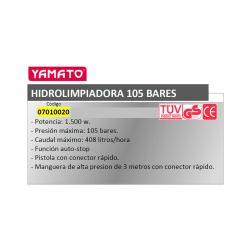 HIDROLIMPIADORA YAMATO 105 BARES 1500 W.  AUTO - STOP