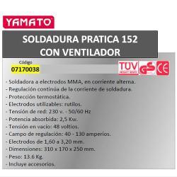 SOLDADURA YAMATO PRATICA 152 CON VENTILADOR