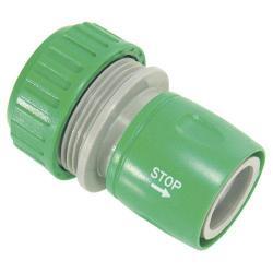 CONECTOR MANGUERA PLASTICO 1/2 CON STOP  BLISTER