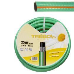 TUBO VERDE TREBOL TRENZADO 15 MM.  ROLLO 50 METROS